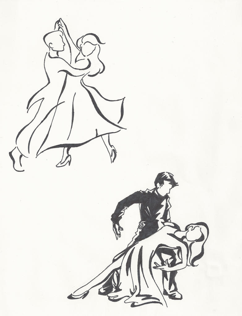 It is a picture of Mesmerizing Balllroom Dancing Refrence Drawing