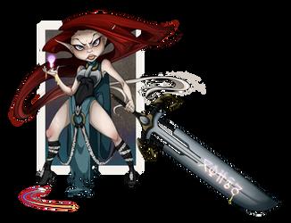 Astrid - Spell Sword by RenrookART