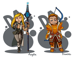 DAI chibi's for my siblings. by RenrookART