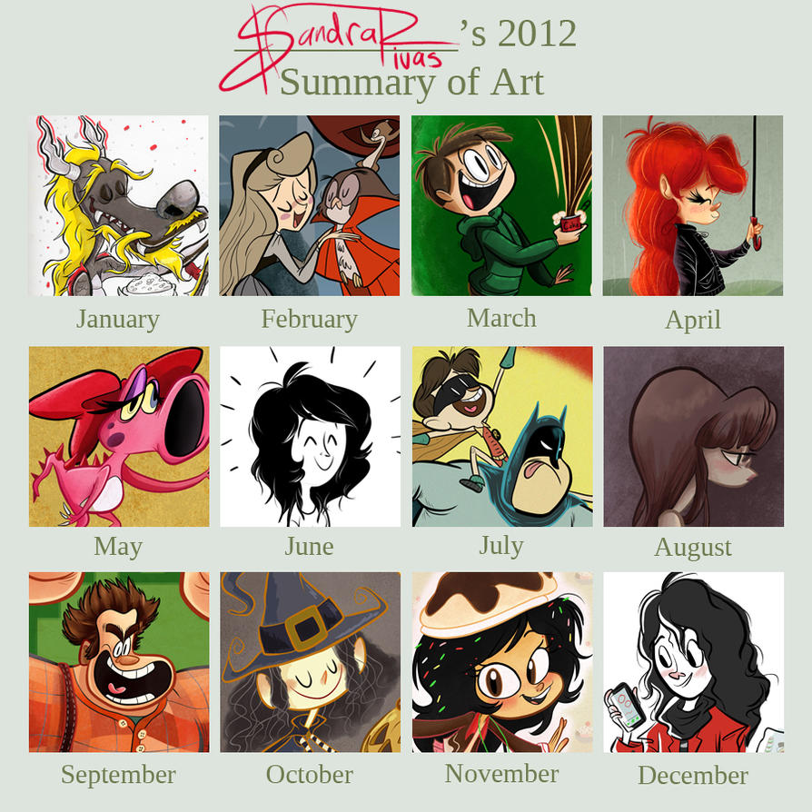 2012 Art Summary by happydoodle