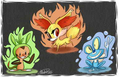 Pokemon X and Y Starters