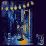 Pixel Street at Night