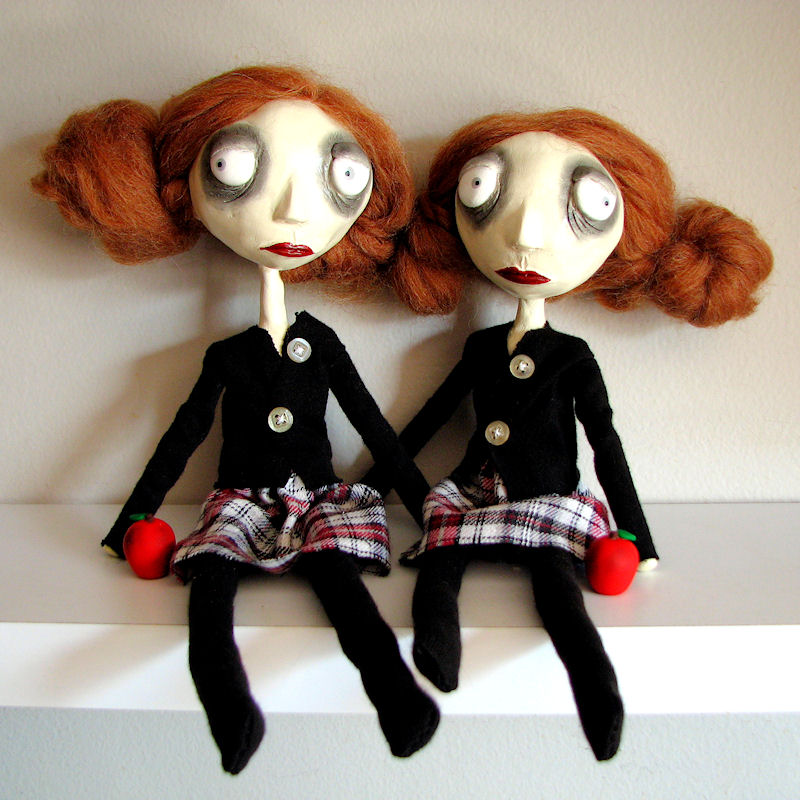 Lucy Lou and Frannie Mae dolls by Miss-Millificent