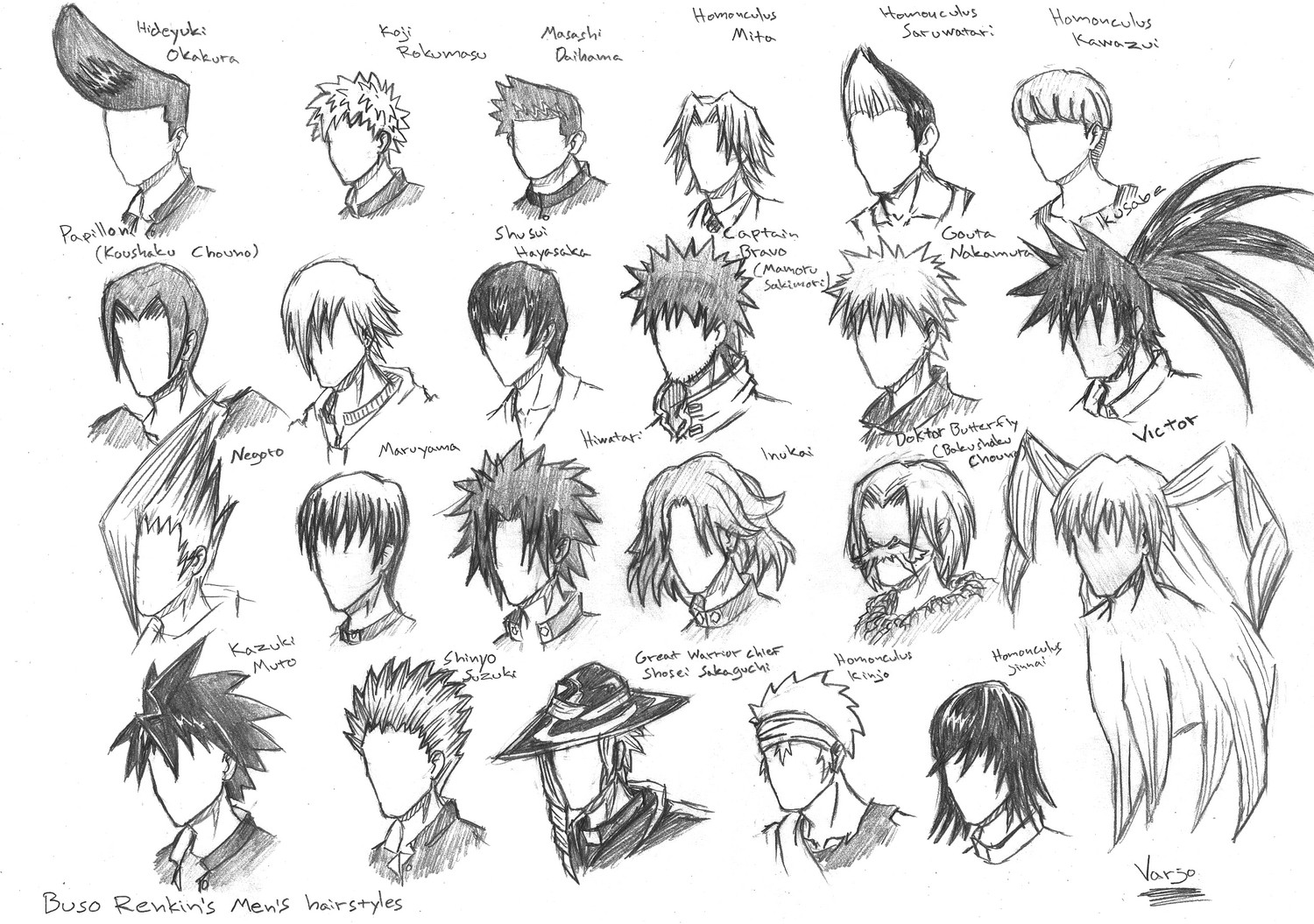 Buso Renkin's Hairstyles By Pesuri On DeviantArt