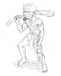 Snap - Goblin Feral Gnasher by Pesuri