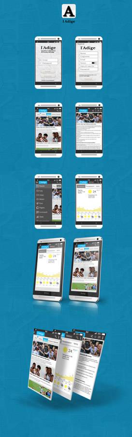 Adige news app UI concept