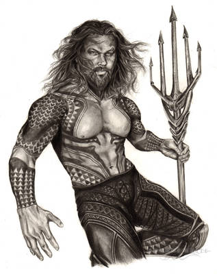 Jason Momoa - Aquaman (DC Comics) by ShonnaTheWhite