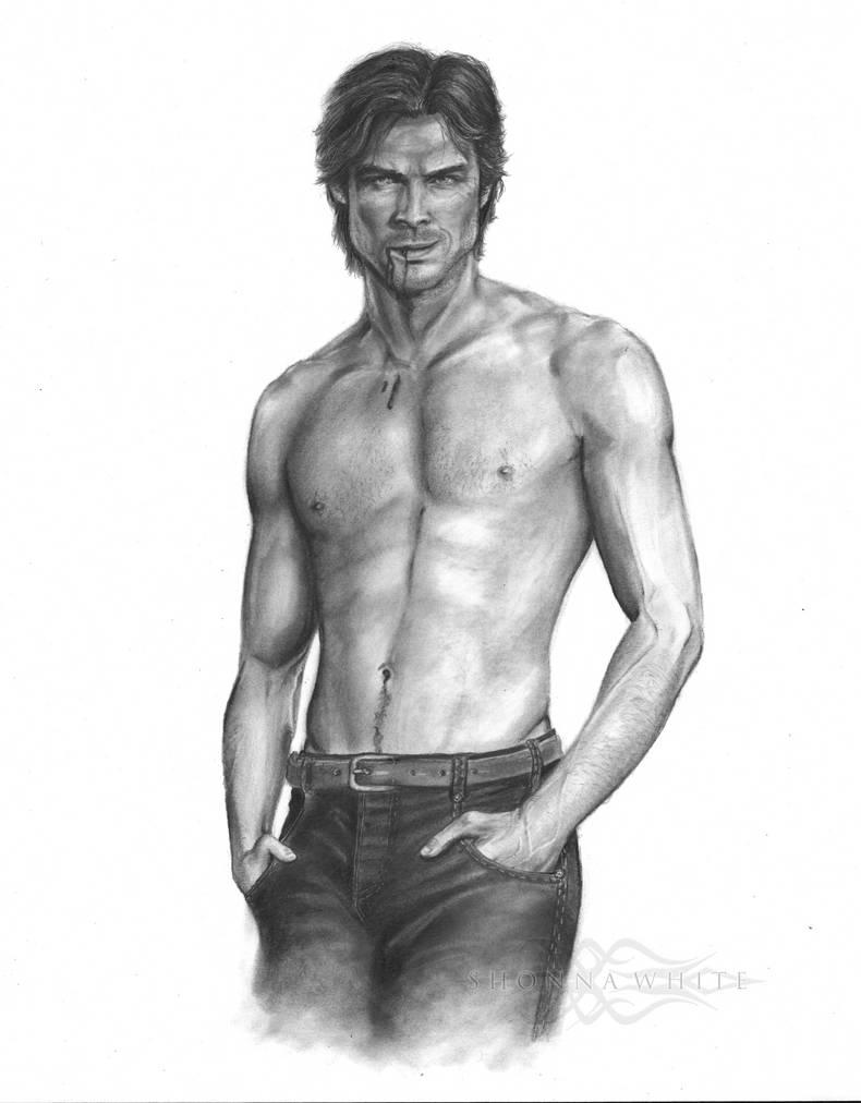 Ian Somerhalderdamon Salvatore Vampire Diaries By Shonnathewhite