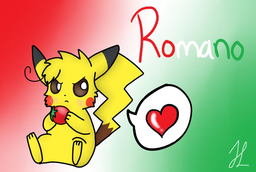 Romano pikachu by BlueshinetheKat