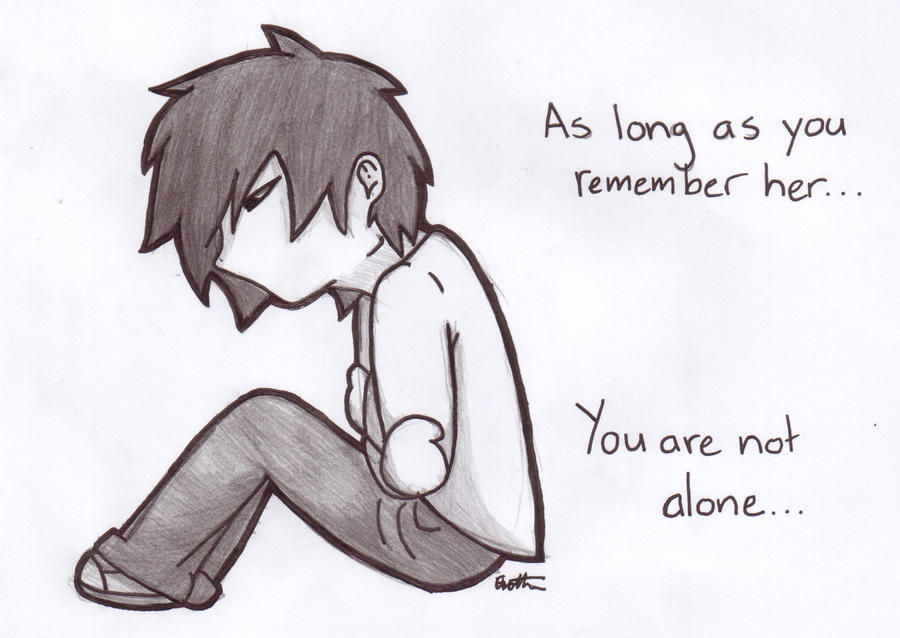 rvb you are not alone pencil and ink by liriana on