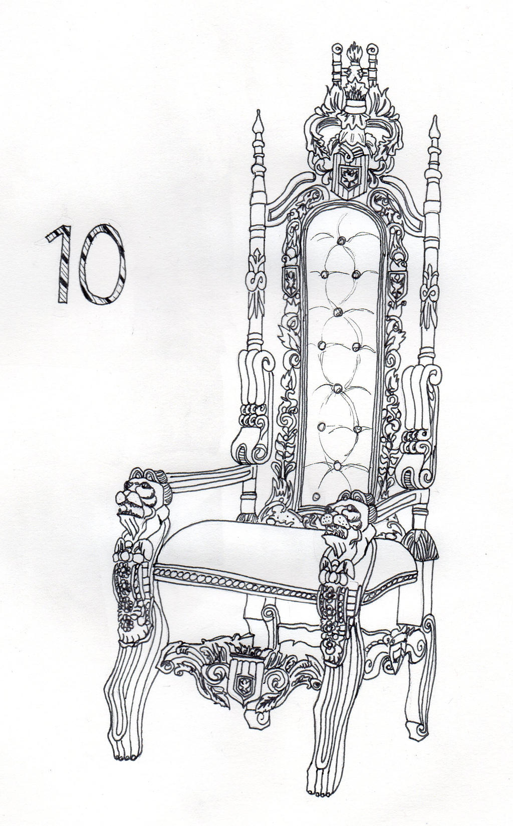 Throne chair drawing the image kid has it for Throne chair plans