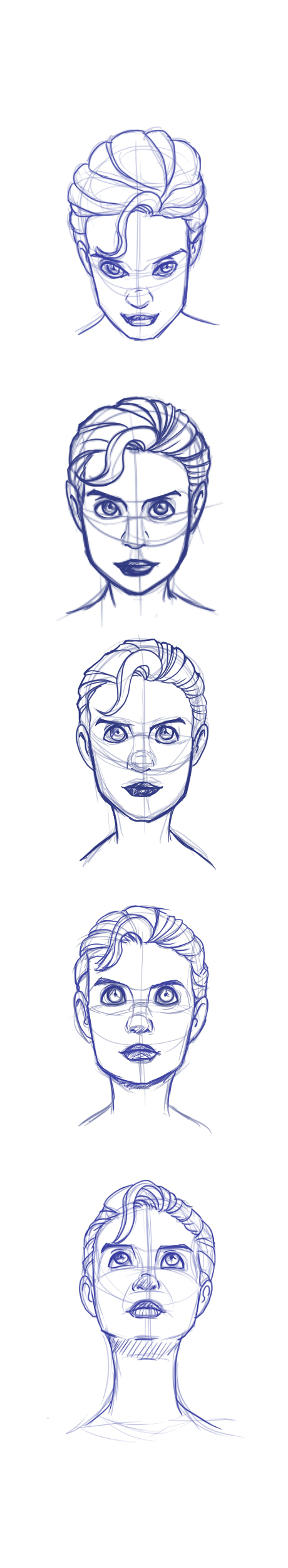 Face drawing practice by EYasser