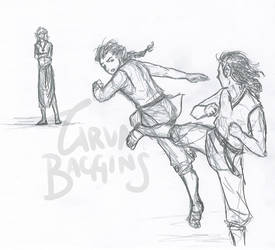 Training (Elrond and Elros) by TarvaBaggins