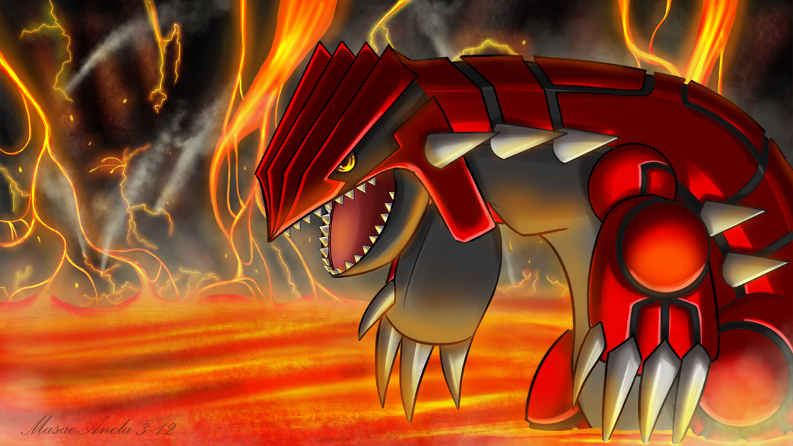 Groudon by Masae
