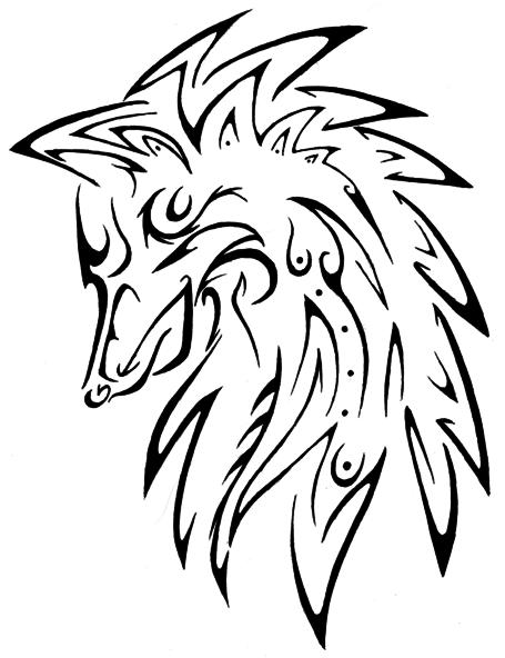 Line Art Wolf Tattoo: Wolf Tattoo By Masae On DeviantArt