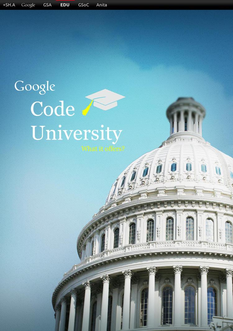 Poster for Google Code University by Al-Wazery