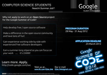 Poster for Google Summer of Code by Al-Wazery