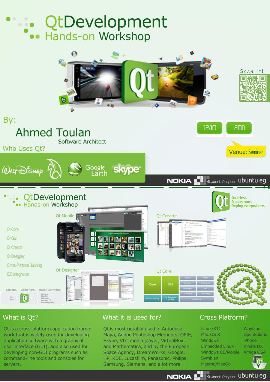 Poster for Qt workshop by Al-Wazery