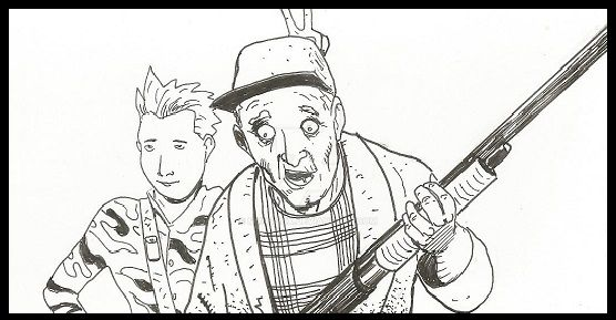 Spaced-out Timmy and Farmer brown by MunsonX