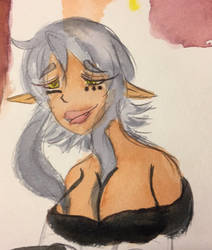 Watercolor Hazuko