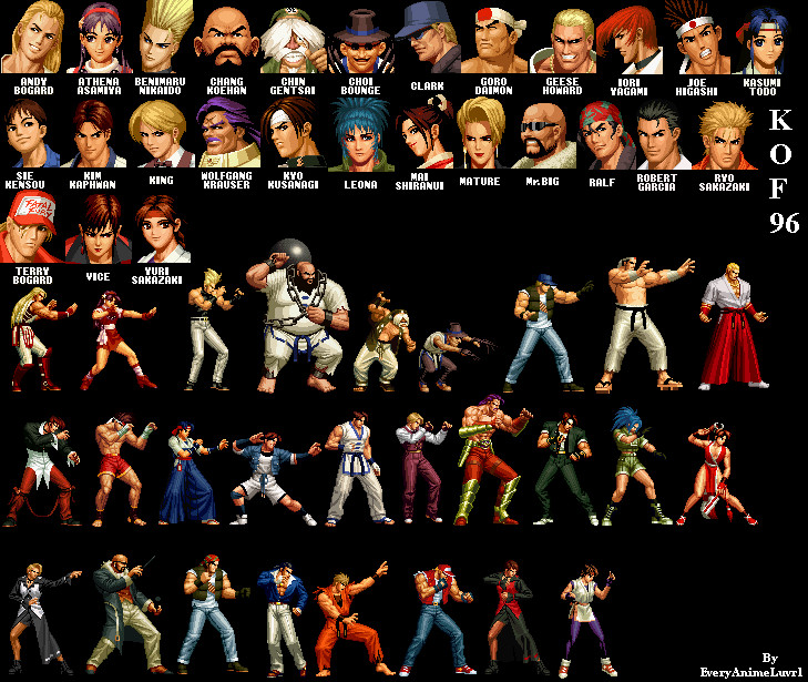 The King Of Fighters96 Players By Everyanimeluvr1 On Deviantart