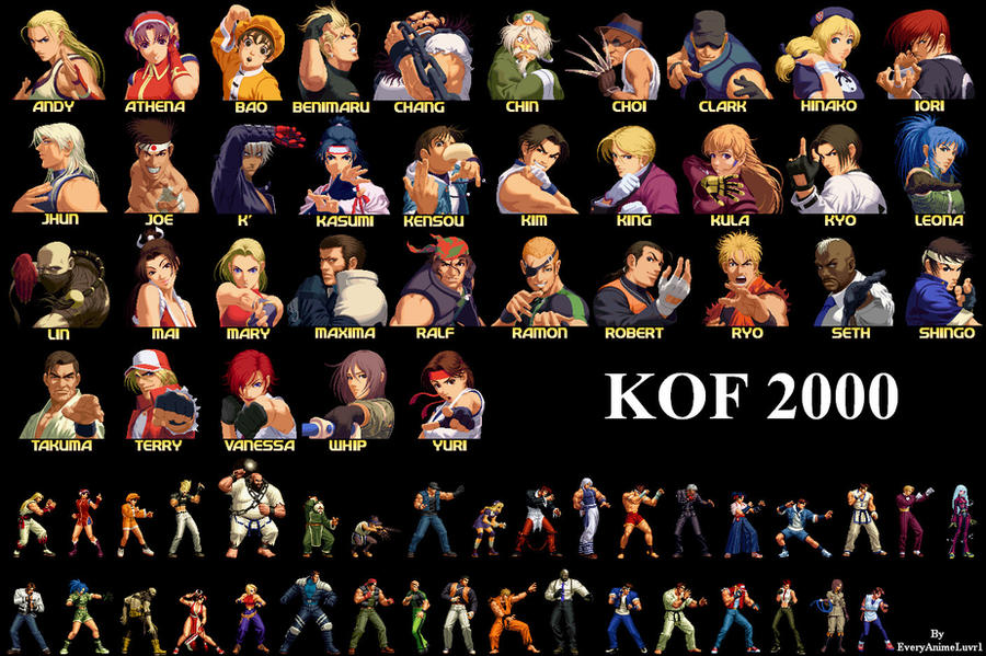 Anime Characters 2000 : The king of fighters players by everyanimeluvr on