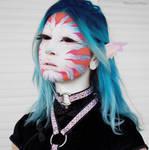 Tropical mermaid with a holo choker by FairyWorkshop