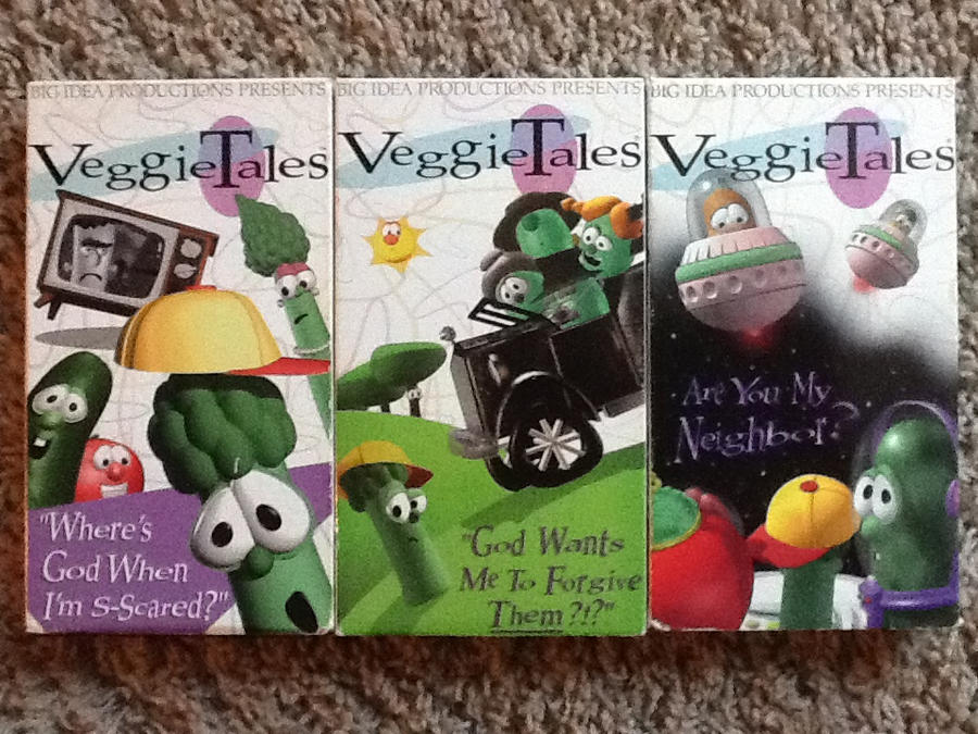 veggietales the early years triple feature vhs by