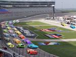 Piston Cup Race In Texas Motor Speedway