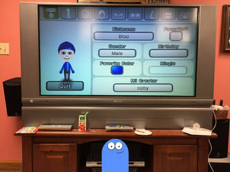 Bloo and his Mii by richardchibbard