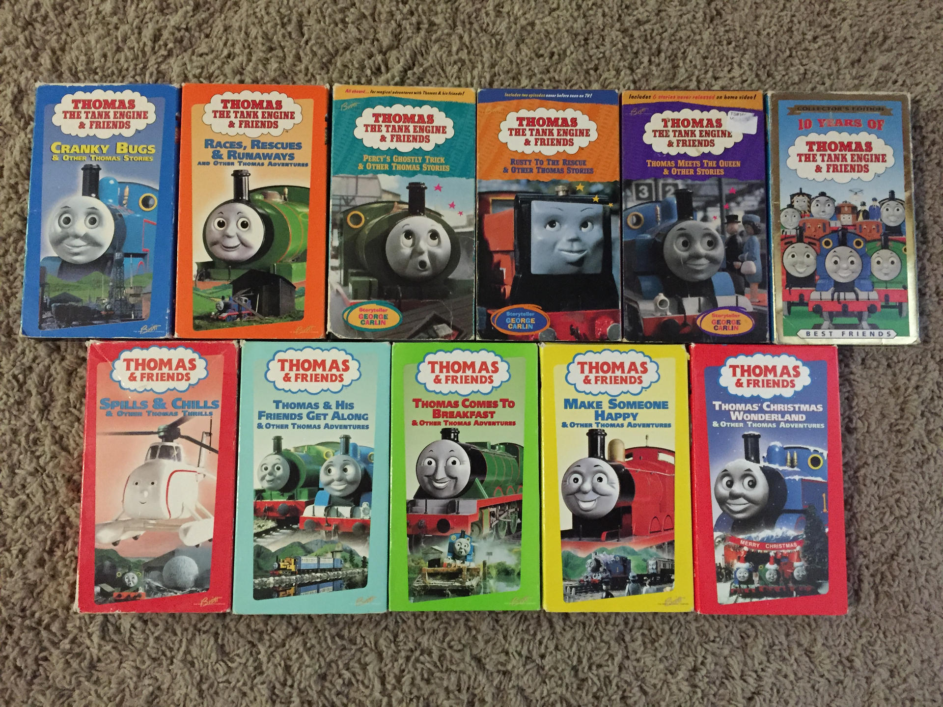 Thomas Christmas Wonderland Vhs.My Thomas Vhs Tapes From The Britt Allcroft Era By
