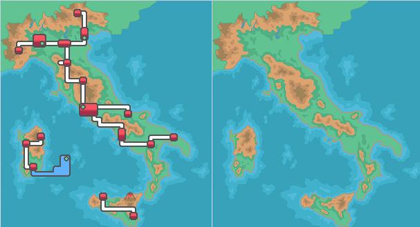 Italy Worldmap HG/SS by Criesona