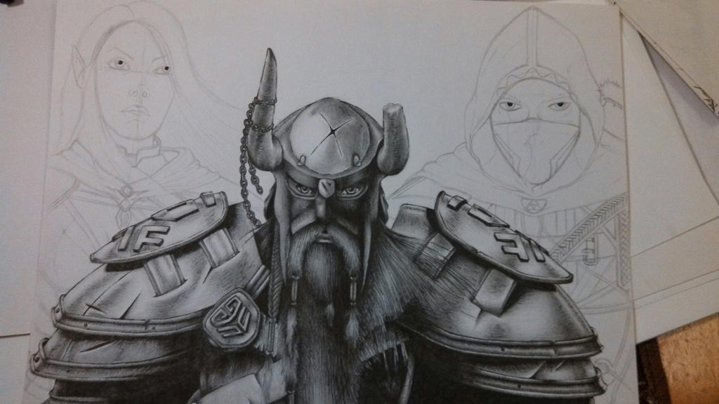 Elder Scrolls Online Drawing (WIP) by JustinEugene on DeviantArt