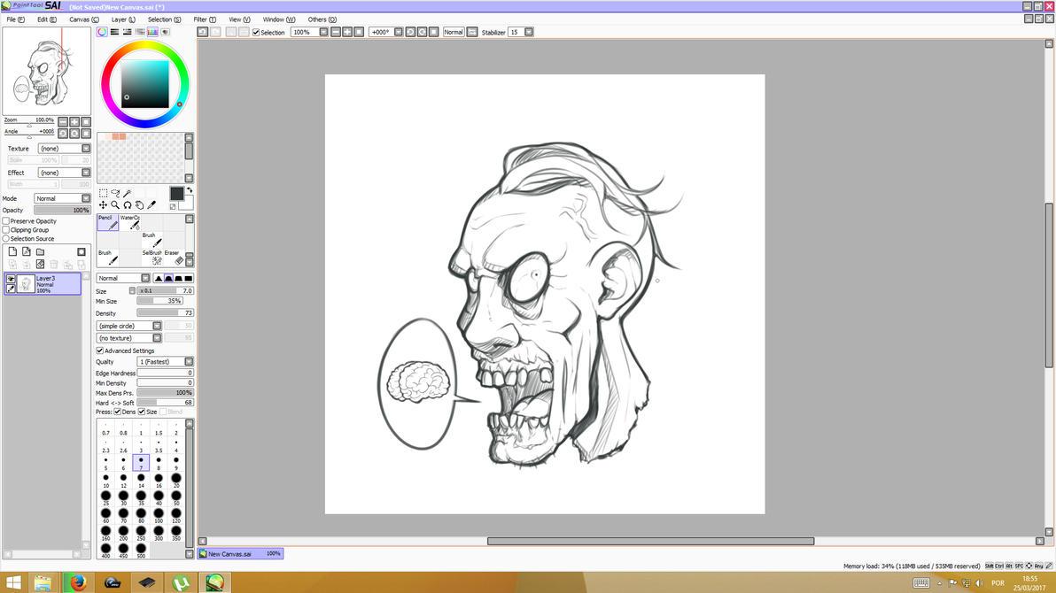 Zombie sketch by Machiazu