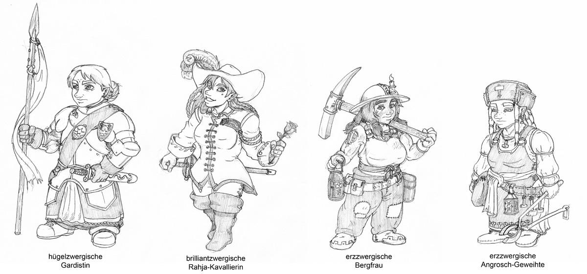 Dwarf Girls 2 by kaffeezombie