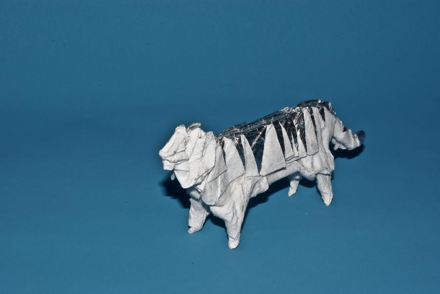Origami White Tiger By Blackblade Shinobi