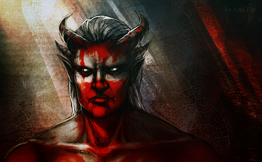 Dragon Age - Qunari sketch by Ami-Fly