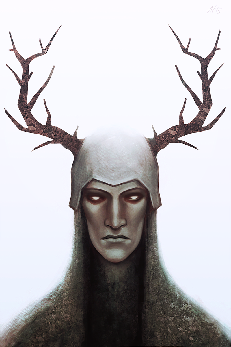 the Horned Knight by Ami-Fly