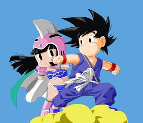 Goku and Chichi by Nyrea