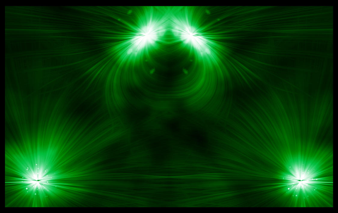 Green Flares by Wicca01