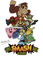 Super Smash Bros. Ultimate 64 by Mayguh-Mein
