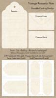 Vintage Romantic Note - Printable by Ninelyn