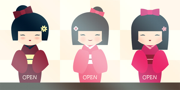 Kokeshi Dolls Adoptables (3/3 Avaliable) by Ninelyn