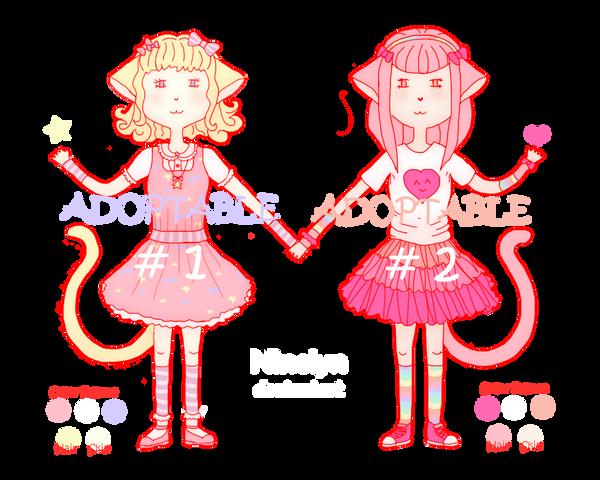 Fairy Kei Kitties - Adoptables (2/2 Avaliable) by Ninelyn