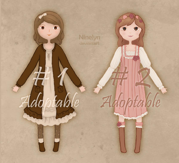 Mori Kei Girls - Adoptables (2/2 Avaliable) by Ninelyn