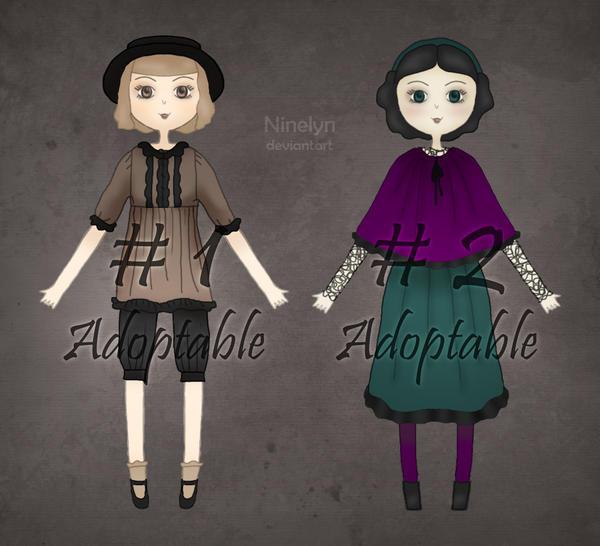 Dark Mori Kei Girls - Adoptables (2/2 Avaliable) by Ninelyn