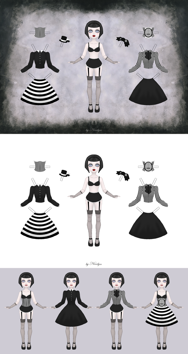Gothic Paperdoll by Ninelyn