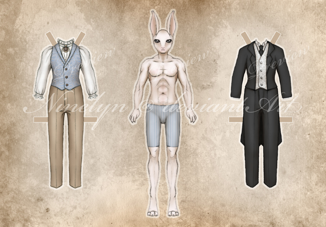 Damien Printable Paper Doll by Ninelyn