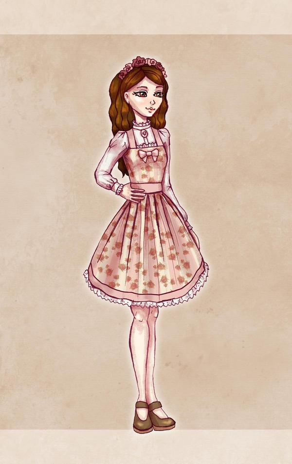 Pink Jumperskirt Design by Ninelyn