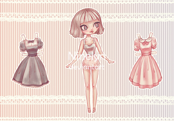 Emma Paper Doll by Ninelyn